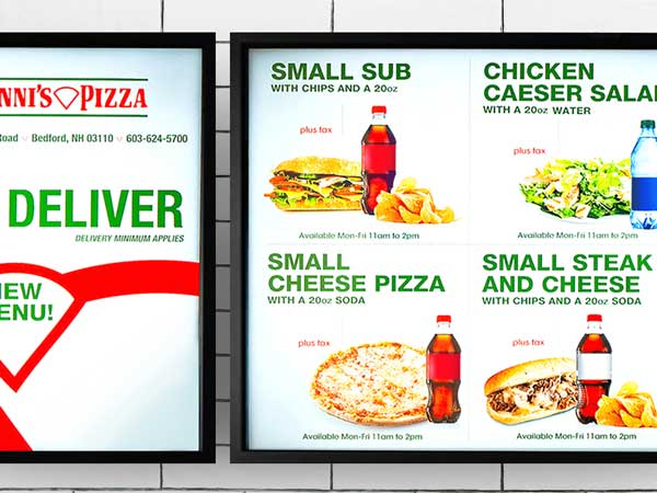 600x450 digital menu boards